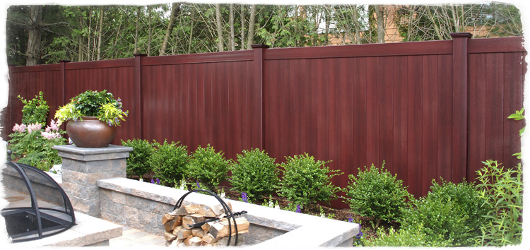 illusions color wood grain pvc fence new britain connecticut